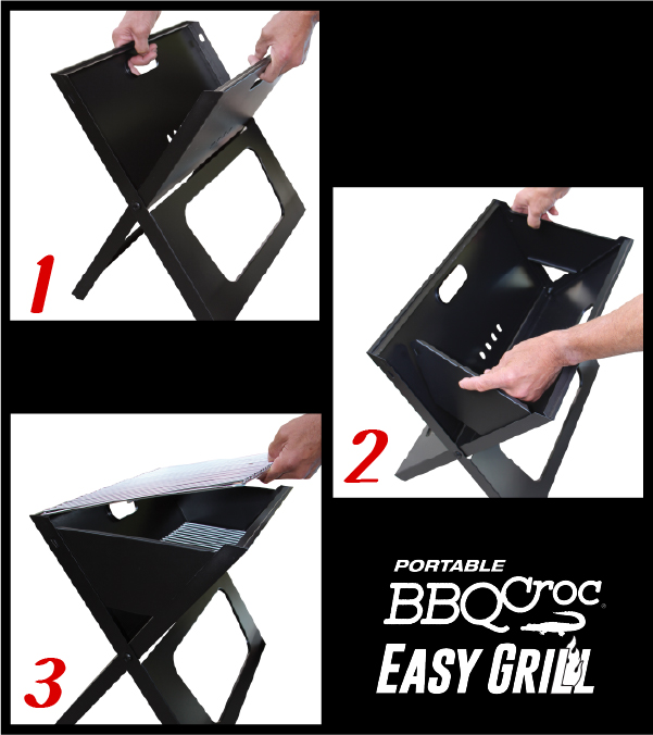 BBQ Croc EASY GRILL - The Best Portable and Foldable Barbecue